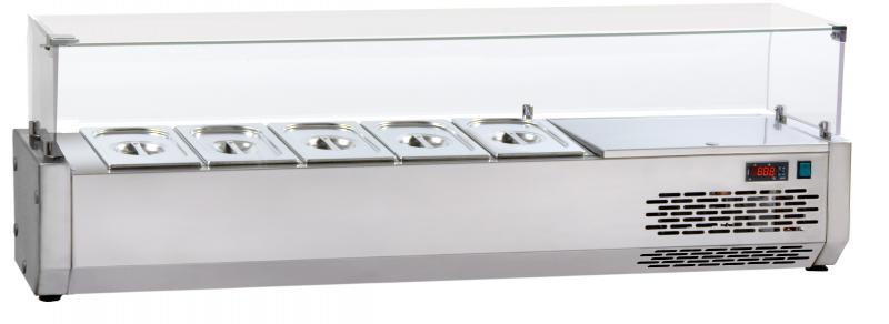 VR3200VD | Vitrină frigorifică ingrediente 8 x GN 1/3