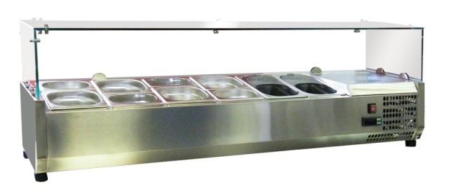 Saladetă&Vitrină frigorifică ingrediente pizza ESL3861-VRX1400-produs resigilat