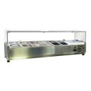 Saladetă&Vitrină frigorifică ingrediente pizza ESL3861-VRX1400
