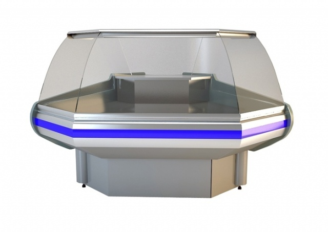 NCH IM W 1,2 Curved glass external corner counter (90°)