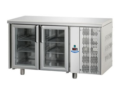 TF02MIDPV - Glass door refrigerated worktable GN 1/1