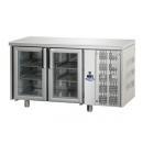 TF02MIDPV - Masă frigorifică din inox cu 2 uși cu geam