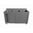 Triple stainless steel sink