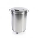 Stainless steel trash container