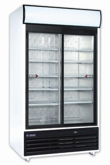 Vitrină frigorifică verticală cu ușă glisantă USS 1000 DSCL resigilat