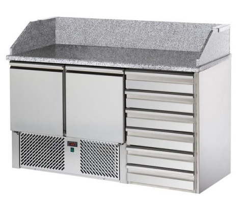 SL02C6 - Refrigerated Pizza Preparation Table