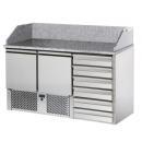 SL02C6   Masă frigorifică cu 2 uși și 6 sertare pentru preparare pizza