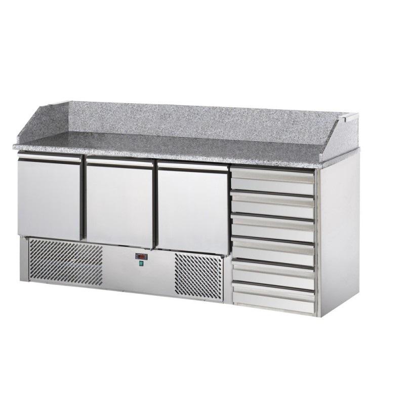 SL03C6 - Pizzaelőkészítő asztal
