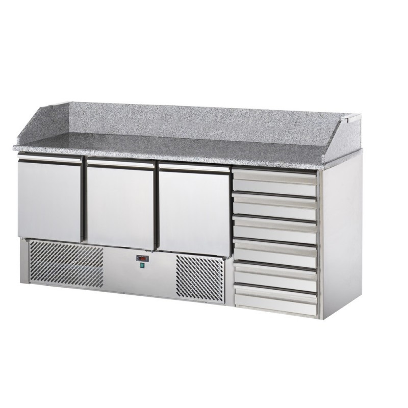 SL03C6 - Refrigerated Pizza Preparation Table