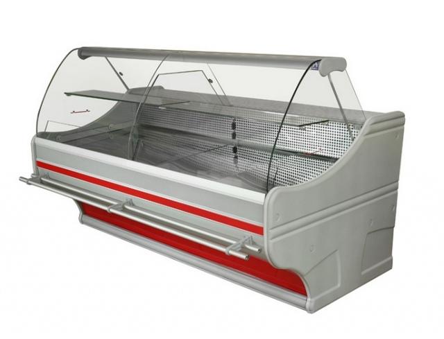 Hajlított üvegű csemegepult telep. aggr.WCh-6/1B-1,0/110 - WEGA-