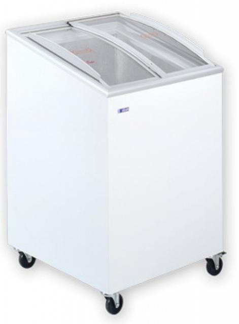 Ladă congelatoare cu capac înclinat și geamuri glisante curbate UDD 100 SCEBG