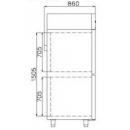 Dulap frigorific dublu COMBI CC700