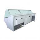 WCH-6/1BZA 1570 WEGA - Hajlított üvegű csemegepult nagyobb alsó tárolórésszel