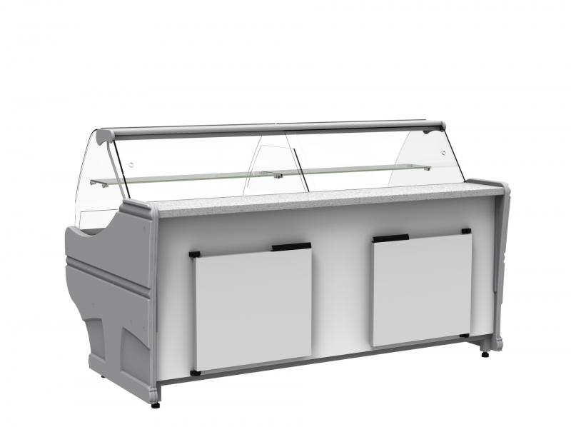WCh-6/1BZ-1040 WEGA - Counter with curved glass without aggr. (S)