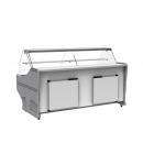 WCh-6/1BZ-1040 WEGA | Vitrină frigorifică orizontală cu geam curbat (S)