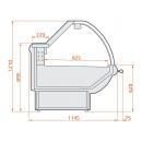 Vitrină frigorifică orizontală cu geam frontal telescopic | LCT Tucana 01 1,25
