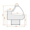 LCD Dorado B/A 1,2 - Hajlított üvegű csemegepult