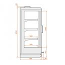 SCI Indus 04 1,56 - Hűtött faliregál - 2 ajtós