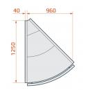 LCP Pegas SPH EXT45 | Vitrină de colț exterior 45°