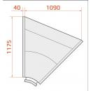 LCK Kolumba REM INT45 |Vitrină frigorifică de colț interior 45°