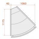 LCK Kolumba EXT 45 SELF REM - Önkiszolgáló belső sarokpult 45°