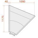 LCK Kolumba INT 45 SELF REM - Vitrină frigorifică de colț interior 45° cu autoservire