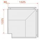 LCK Kolumba REM EXT90 | Vitrină frigorifică de colț exterior