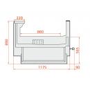 LCK Kolumba SELF REM 1,25 - Self-service refrigerated counter