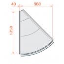 LCP Pegas SPH SELF EXT45 | Vitrină frigorifică de colț exterior cu autoservire