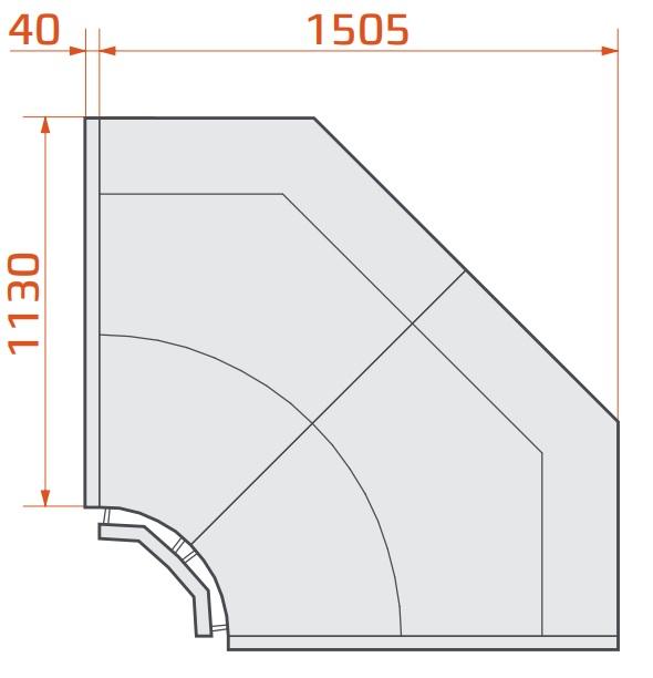 LCT Tucana 02 INT90 - Internal corner counter 90°