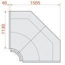 LCT Tucana 02 INT90 - Internal corner counter 90°