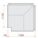 Vitrină frigorifică de colț exterior | LCT TUCANA 02 EXT 90° PR