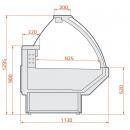 LCT Tucana SPH 1,25   Vitrină frigorifică orizontală cu geam curbat