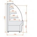 Vitrină cofetărie / patiserie cu autoservire   RCC Carina 02 SELF 0,6