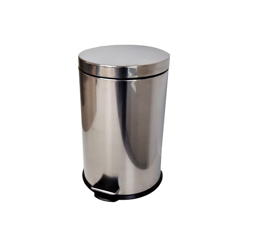 Stainless steel bin with pedal