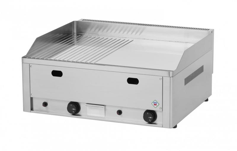FTHRC 60 G - Gas chromed grill with 1/2 smooth and 1/2 ribbed surface