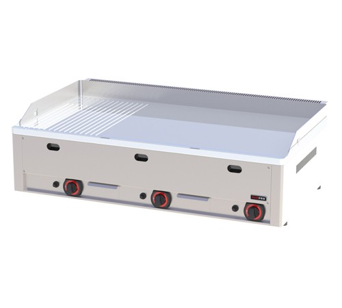 FTHRC 90 G - Gas grill with 2/3 smooth and 1/3 ribbed surface