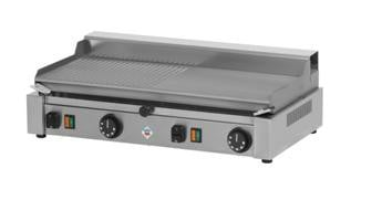 PD 2020 MB - Plate for light grilling-1/2 smooth and 1/2 ribbed surface