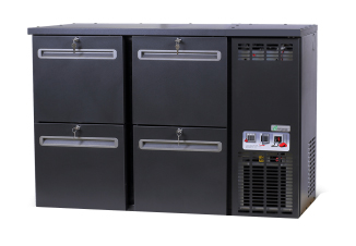 DCL-33 MU/VS - Bar cooler with 4 identical drawers