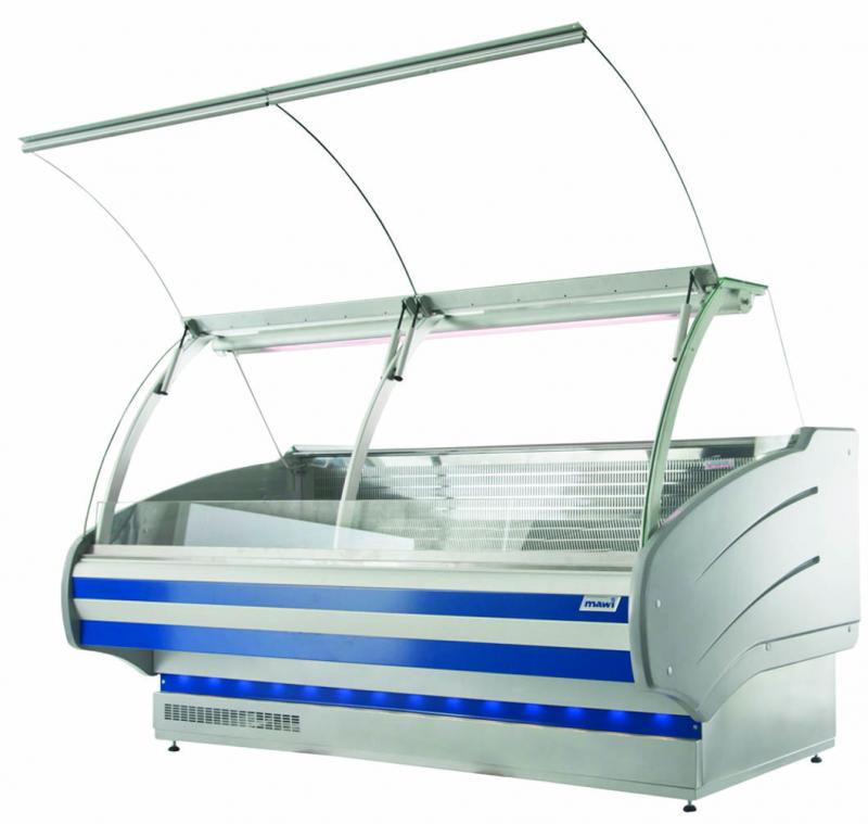 WCH LUX 1.3/1.2 S | Counter with curved glass on telescopic system