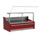 WCH-8 1330 CARMEN - Counter with straight glass with built-in aggr. (S)