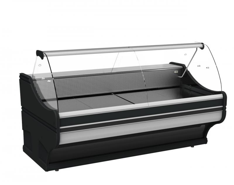 Counter with curved glass WCh-6/1B-1,0/110-WEGA (S)