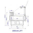 Vitrină frigorifică orizontală   GRAVIS LIFT 0.94