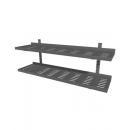 Adjustable wall shelves