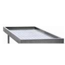 Stainless steel table for fish exposure