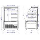 Vitrină frigorifică de cofetărie și patiserie | EPICA 0,9