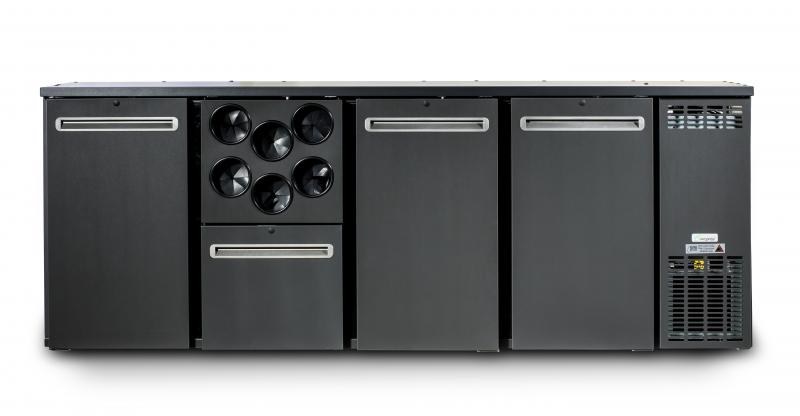 TC BBCL4 (DCL-2222 MU/VS)   Bar cooler 4 solid doors
