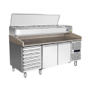Refrigerated work table for pizza EPF 3480