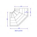 NCH LUX PR W | Belső sarokpult teleszkópos frontüveggel