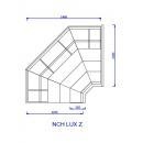 NCH LUX PR Z - Külső sarokpult teleszkópos frontüveggel